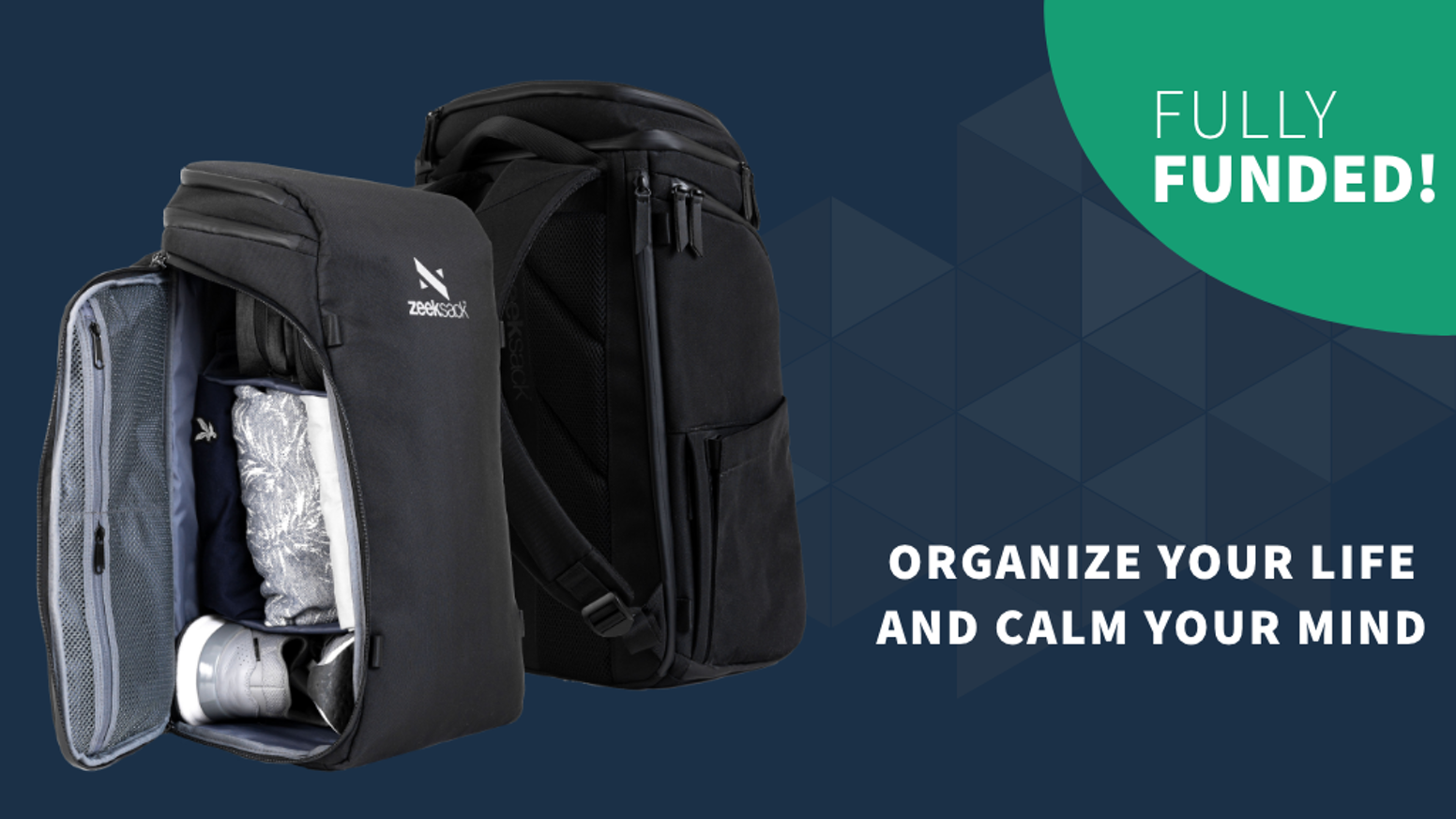 Organize your life and calm your mind with this backpack's Modular Divider System™ and instant access side opening