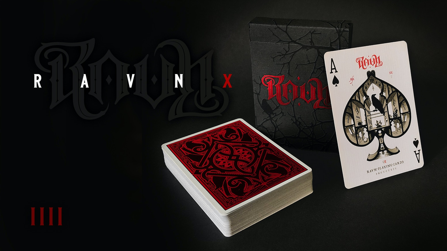 Ravn IIII Playing CardsPtinted by USPCC on Bicycle grade THIN CRUSHED™  paper stock.