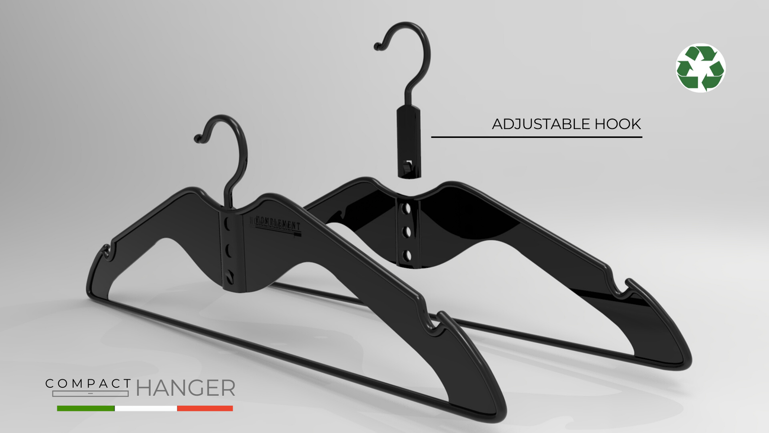 Designed to make your home more organized | Thanks to the 3-levels adjustable hook, it perfectly fits with collared shirts