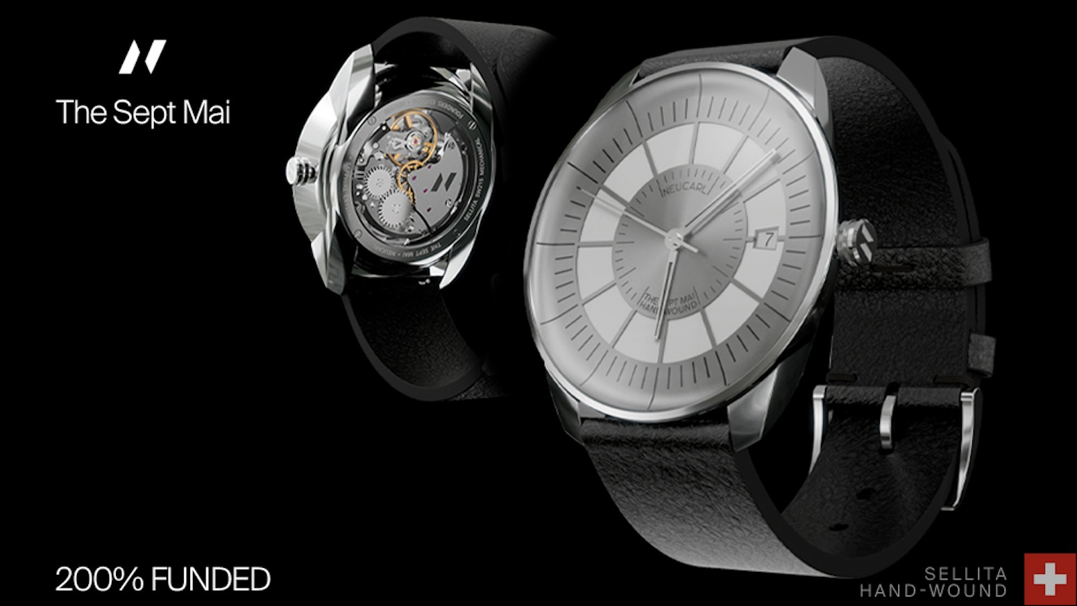 The Sept Mai Watch borrows from the past and the future to capture the moment. Industrial aesthetics, by Neucarl Watches