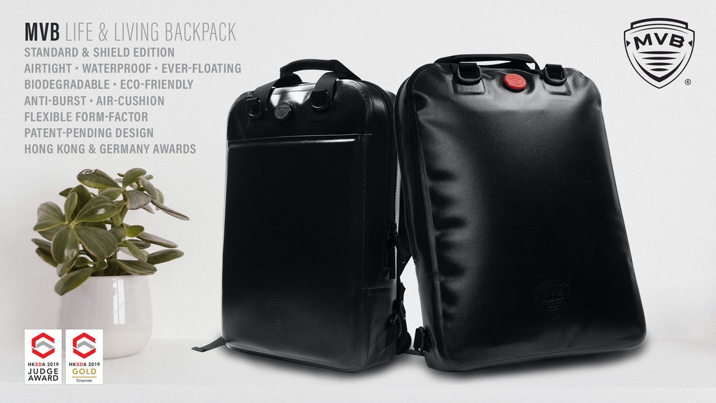 MVB | The eco-friendly, go-anywhere, waterproof backpack. project video thumbnail