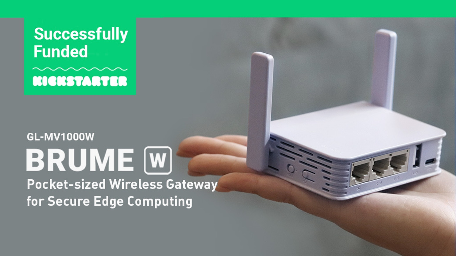 The portable edge computing gateway with secure VPN cryptography technology, now with a built-in WiFi Module.