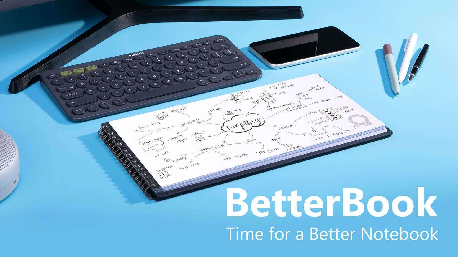 Betterbook is a better notebook to work and study with, and an ideal companion for computers, tablets, and smartphones.
