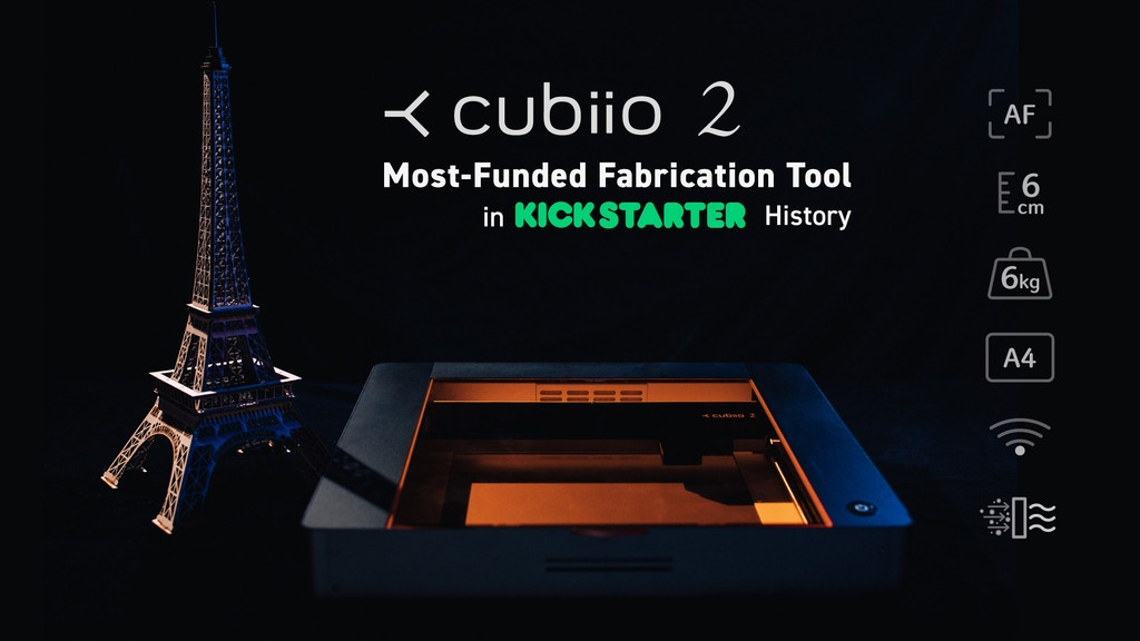 Cubiio 2: Laser Cutter & Metal Engraver with Autofocus project video thumbnail