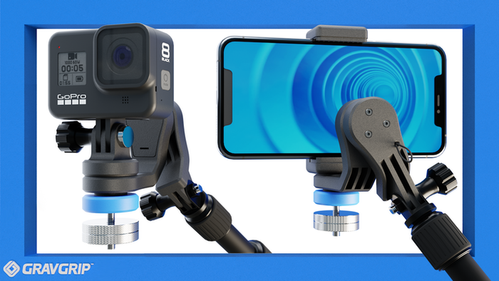 Pre-order now on Indiegogo InDemand! Pocket sized, Battery Free, and Waterproof!  GravGrip™ is a hydraulic camera stabilizer for your Cell Phone and Action Camera.