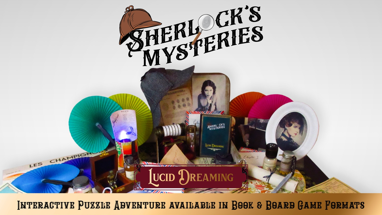 An incredibly interactive puzzle adventure that brings escape room style game play to both Book & Tabletop game formats.