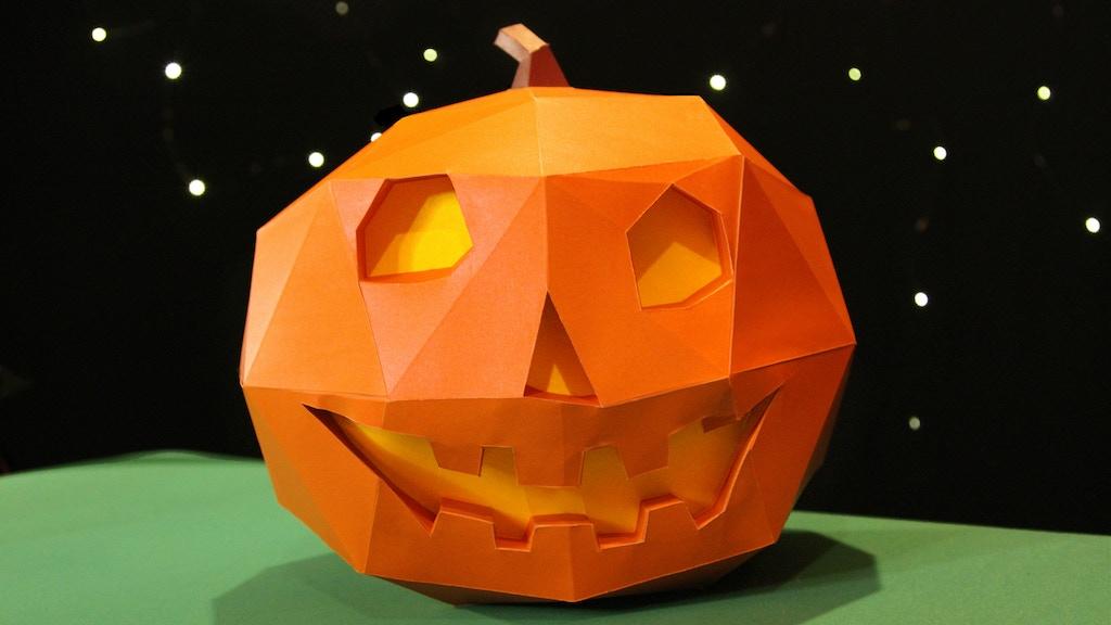 3D Life-Size Halloween Jack-O-Lantern Paper Art Sculpture project video thumbnail