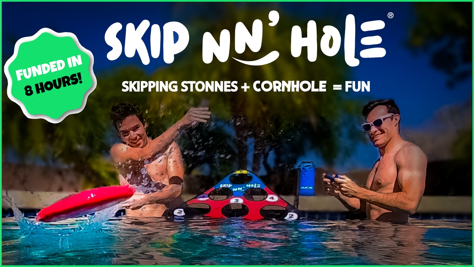 Skip the heat while skipping Stonnes! Fun for all ages, take Skip nn' Hole with you to all of your water destinations!