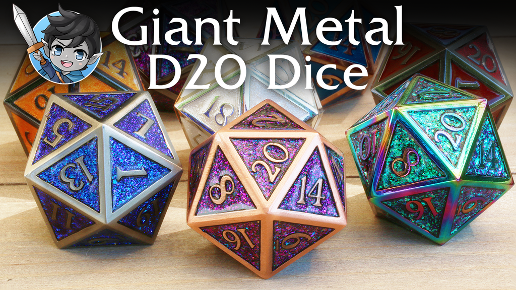 Project image for Giant Metal D20 Dice