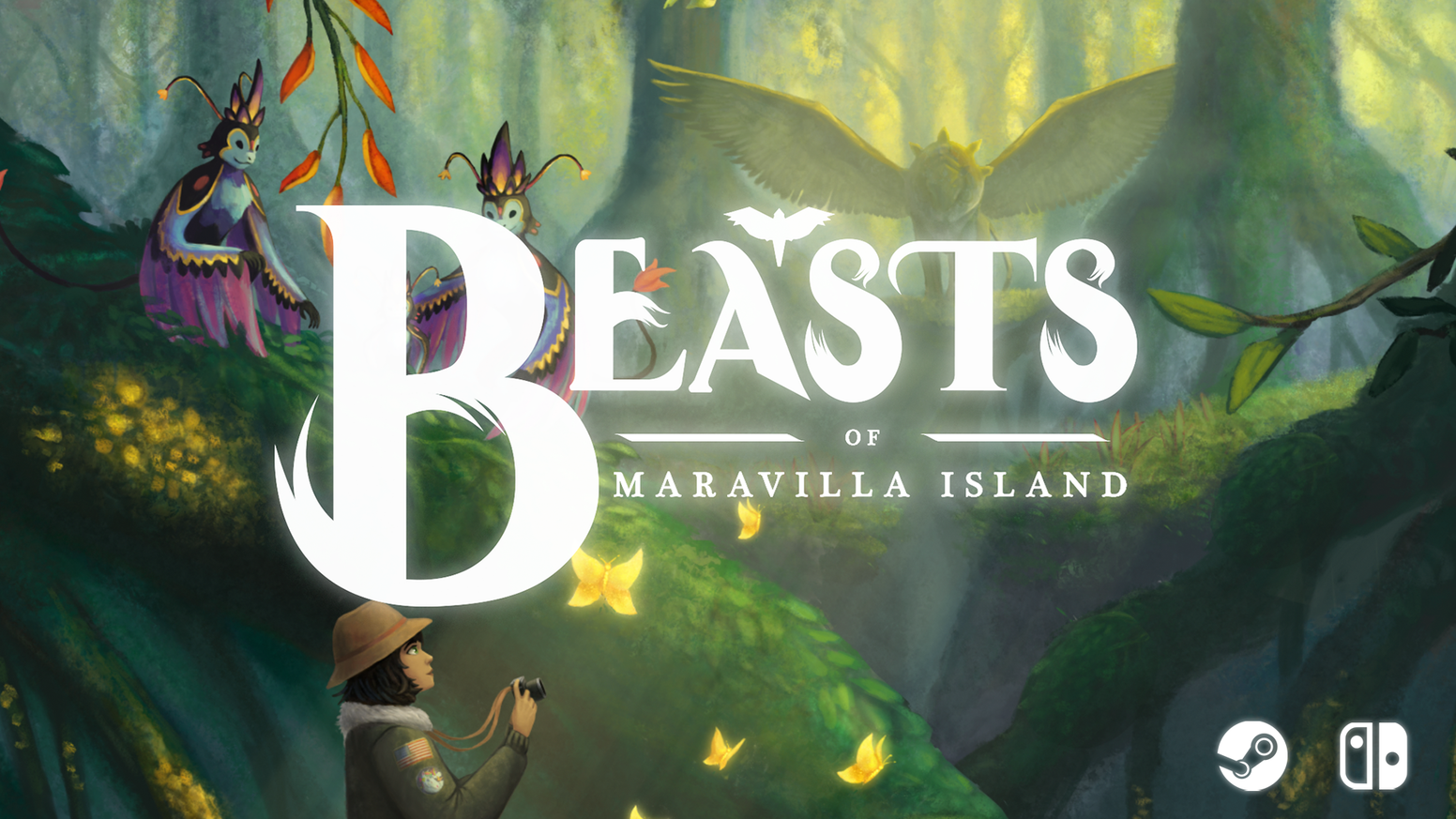 An adventure game where you meet and photograph extraordinary creatures on a magical jungle island!