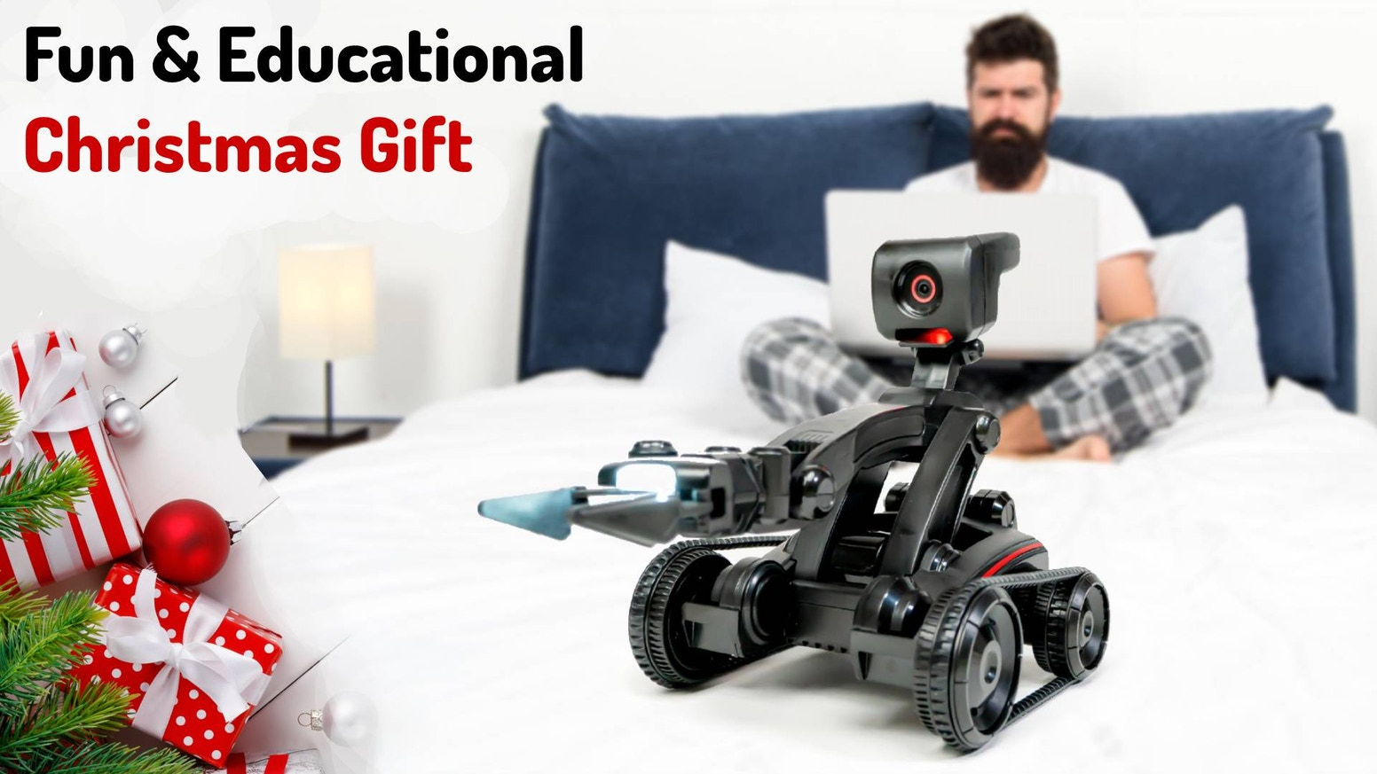 Learns to autonomously perform new tasks.   Has a robotic arm - it can do things for you.   Simple to program, beginner or advanced.