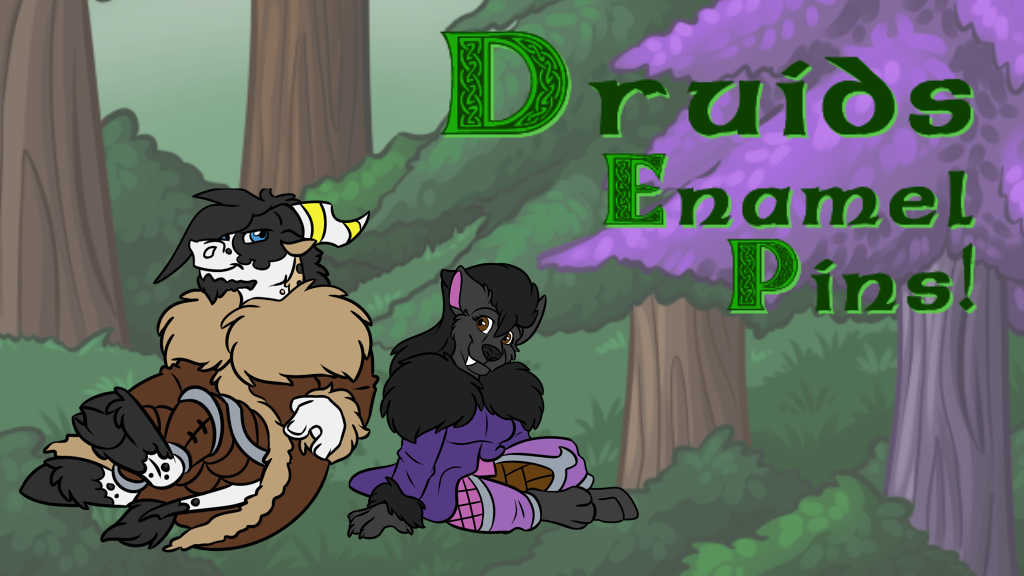 Project image for Druids Enamel Pins By Amocin