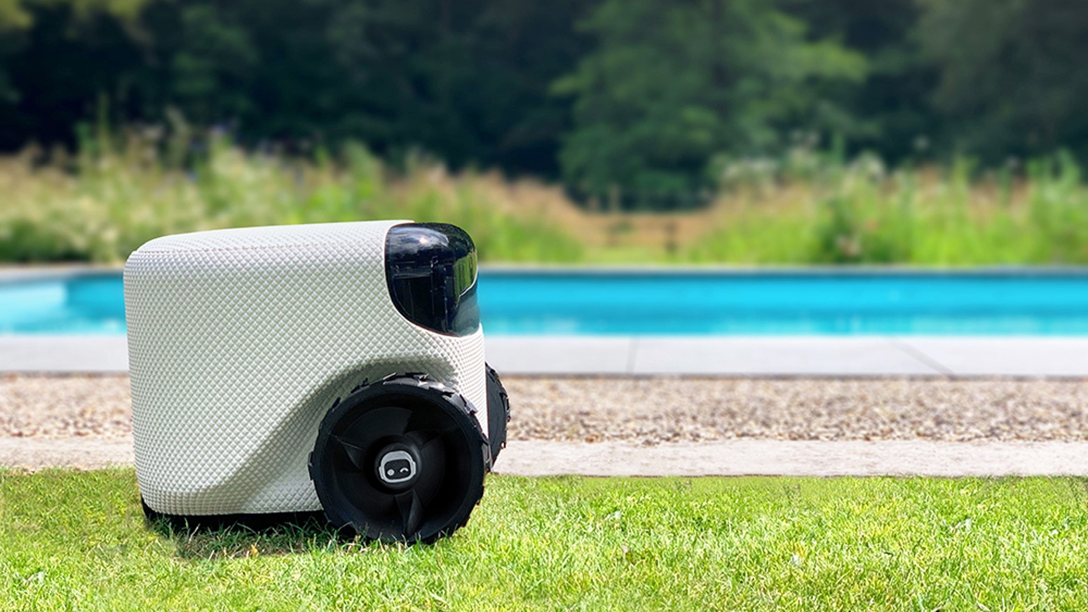 She detects and avoids objects while mowing around your yard without needing a perimeter cable! The intelligent lawn robot.