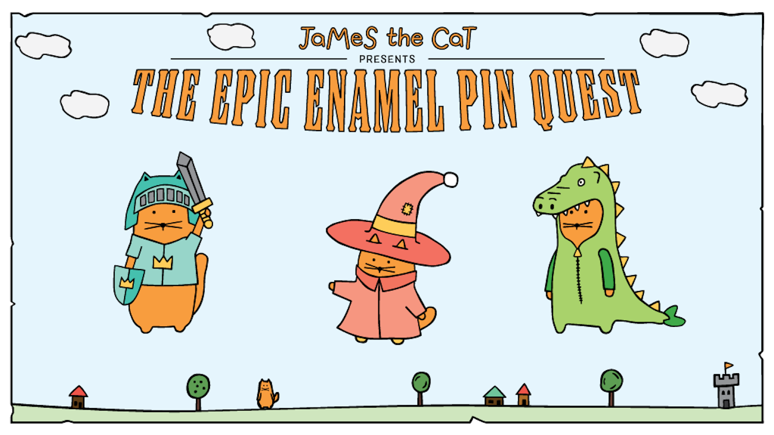 A legendary collection of cat warrior enamel pins