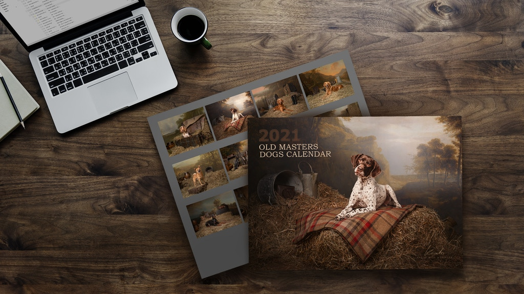 Classic old masters style Dogs Calendar 2021 project video thumbnail