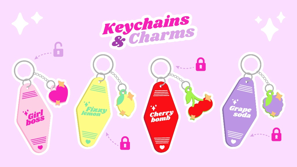 Project image for Cute & Colourful Motel Keychains & Charms