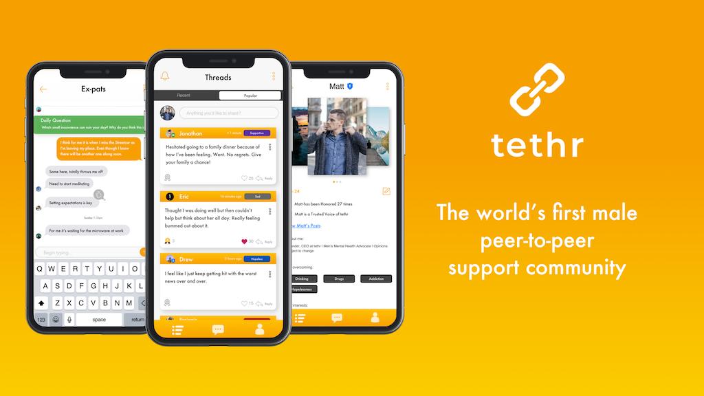 tethr for men: A Mental Health Platform for Men
