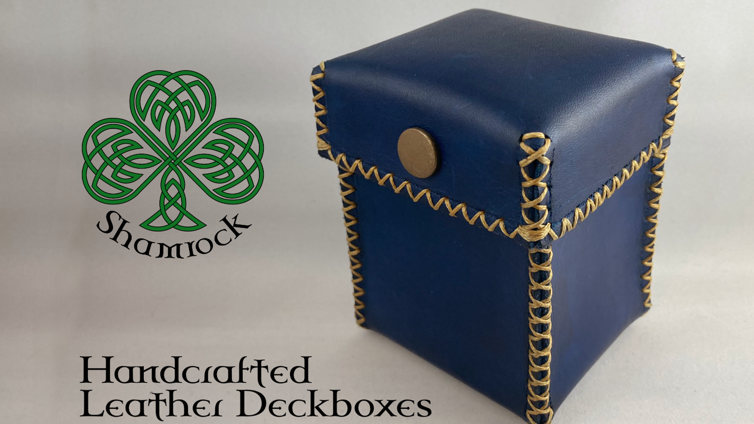 Handcrafted Leather Deckboxes for trading card games such as Magic the Gathering, Pokemon or YuGiOh!
