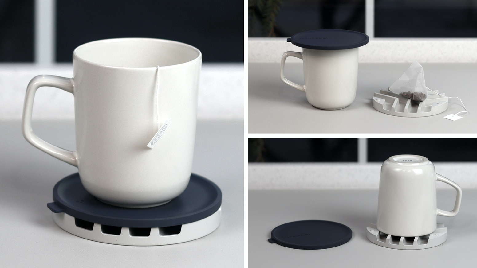RELAX & ENJOY YOUR TEA TIME WITH MULTI-PURPOSE DRINK CUP LID & COASTER