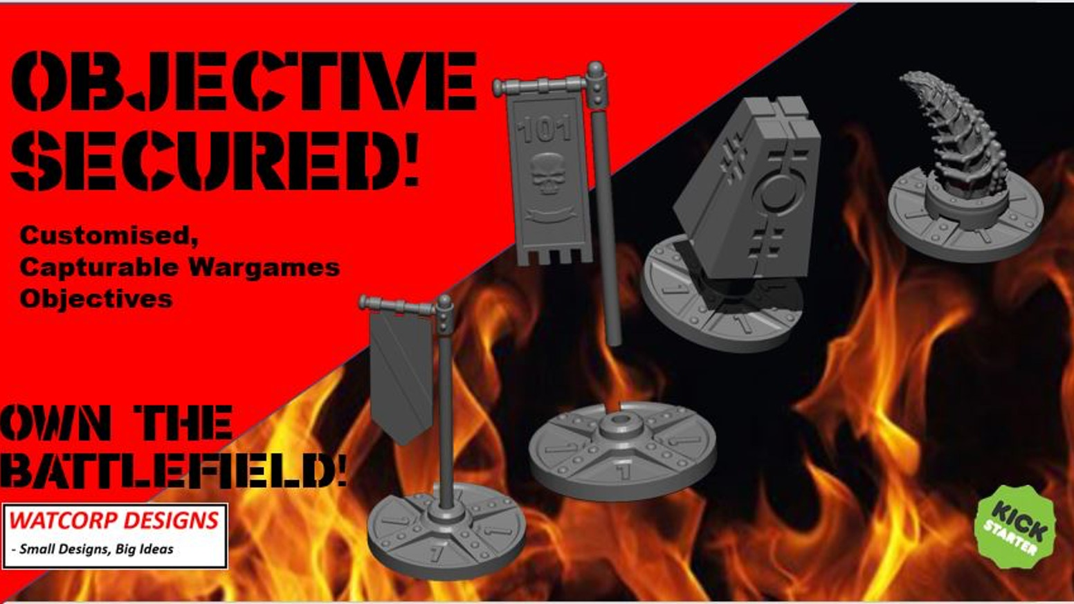 Capturable, Customisable Objectives for Wargames
