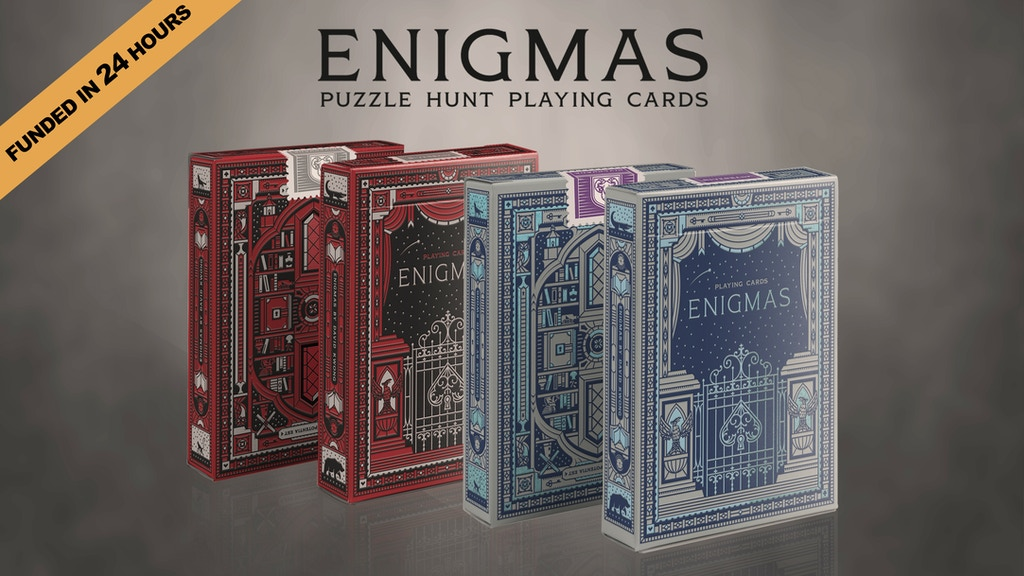 ENIGMAS // Puzzle Hunt playing cards project video thumbnail