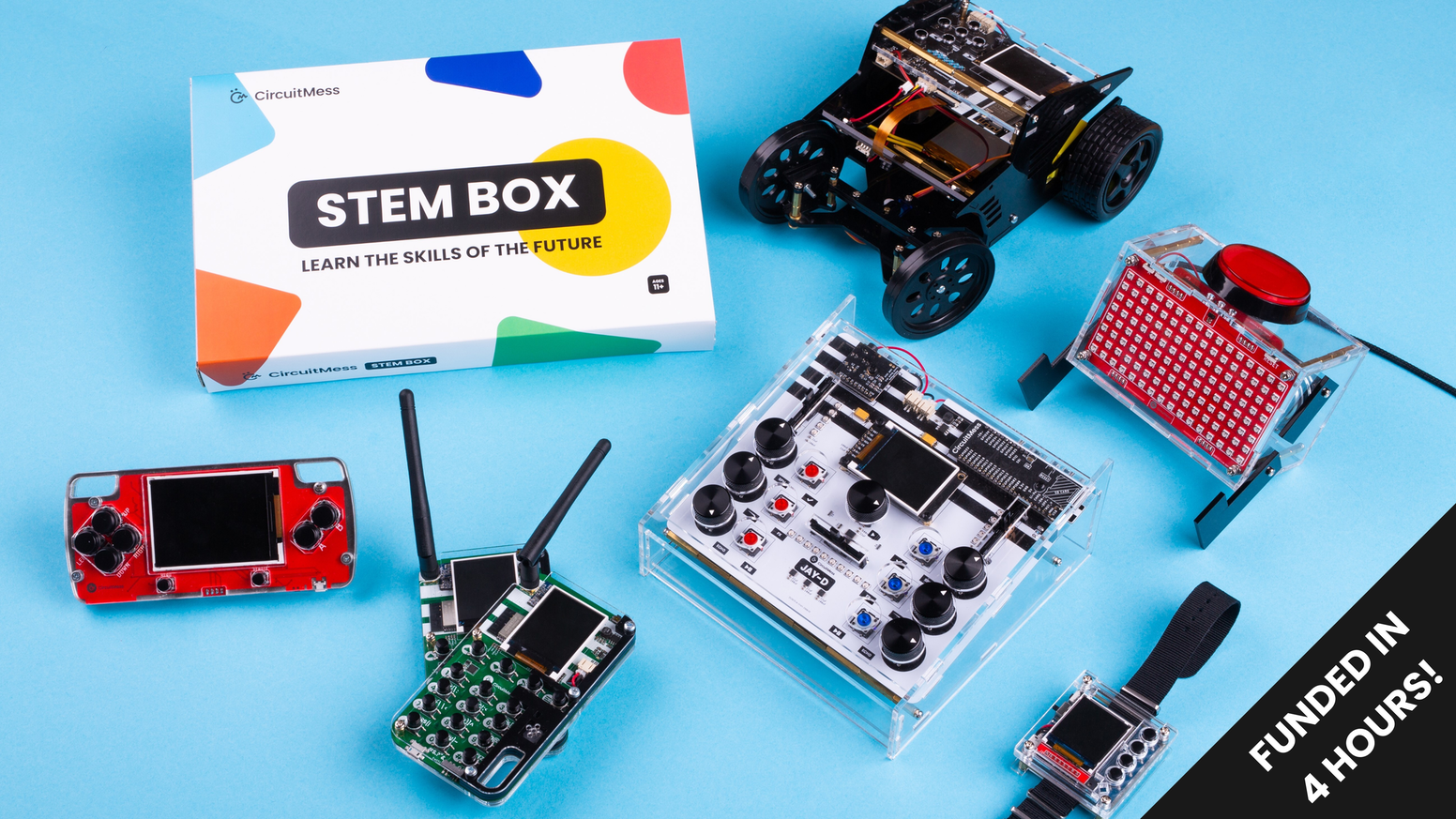 Learn the skills of the future with electronic projects delivered to your doorstep