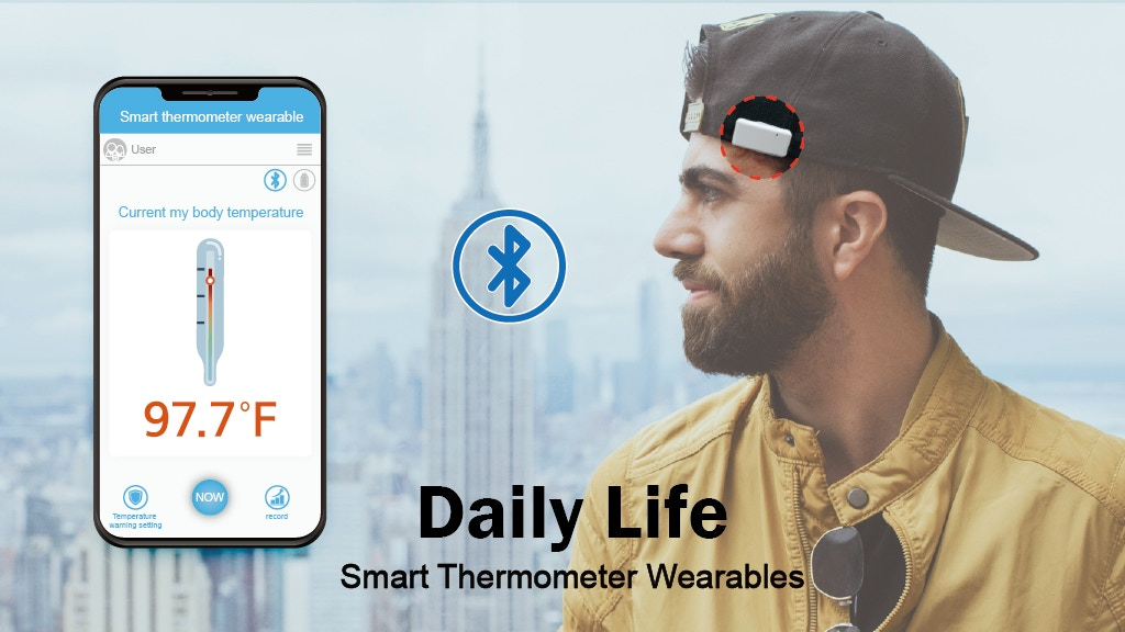 The World's First Smart Wearable Thermometer, Snap Fever