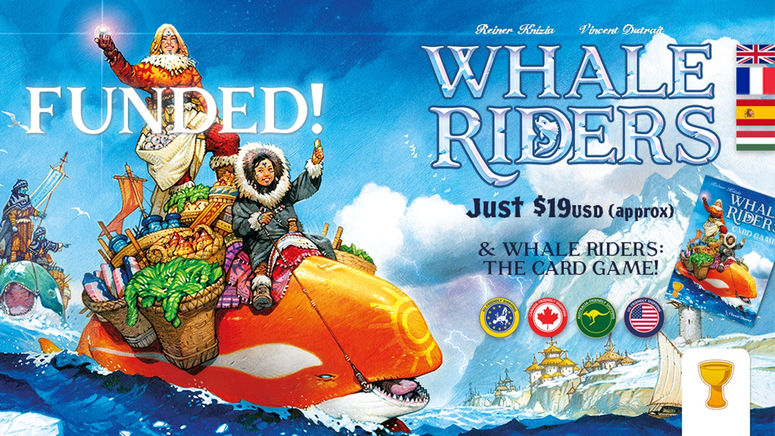 Whale Riders is an all-new game from Knizia/Dutrait/Grail, who brought you Medici. How much can you buy and sell along the Ice Coast?