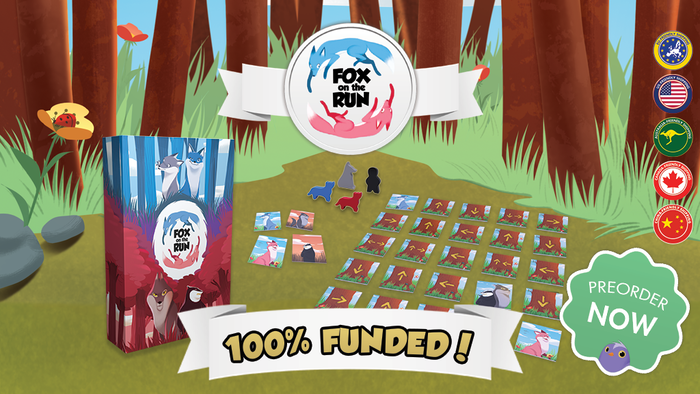 A new competitive board game with two factions, Foxes and Guardians. Choose your side, write the end of the story!