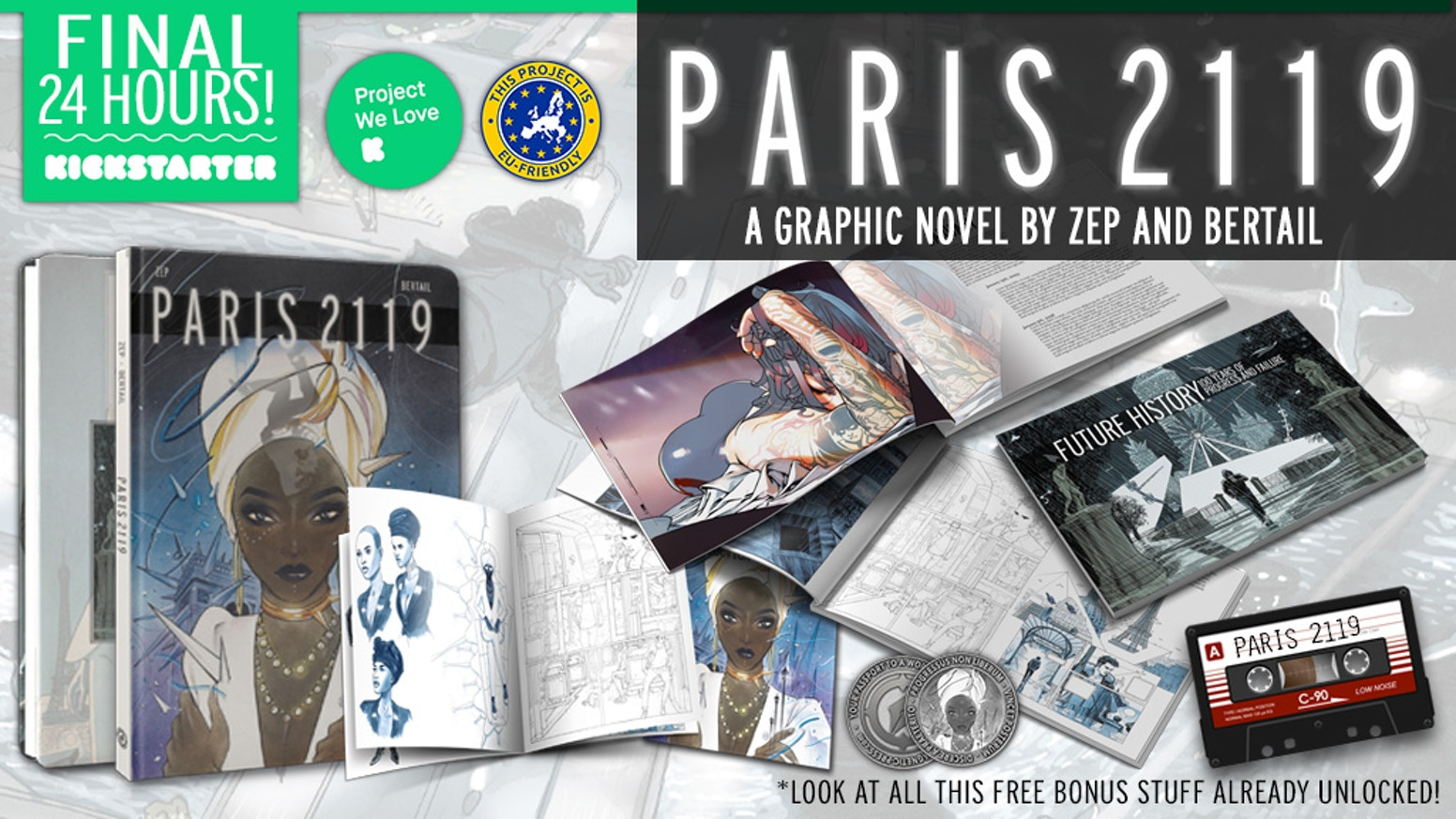Black Mirror meets Blade Runner in this deluxe graphic novel by Zep and Dominique Bertail with exclusive variant cover by Peach Momoko.