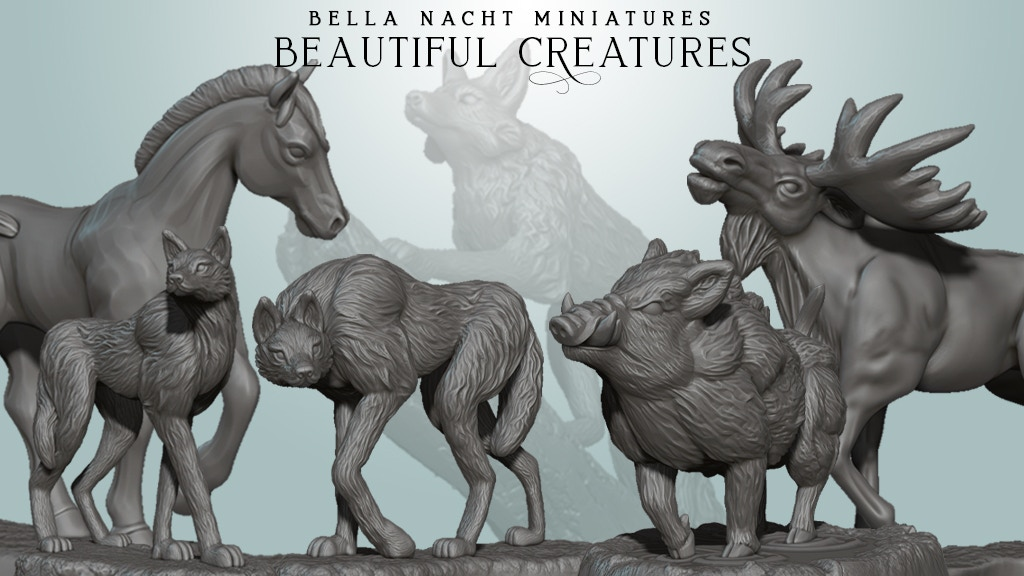 Project image for Beautiful Creatures - STL Set for 3D Printing