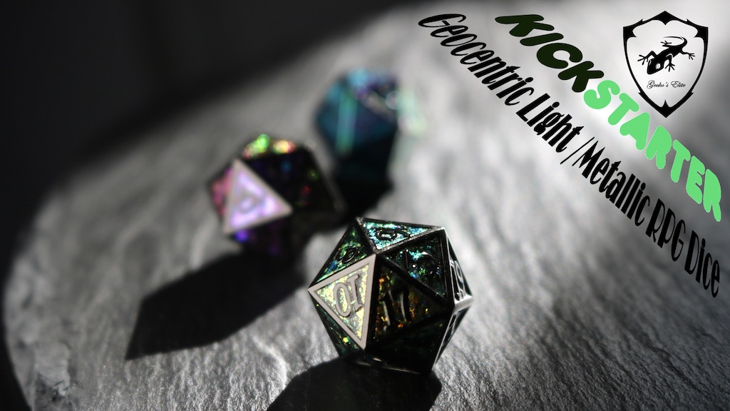 Geocentric Light /Metallic RPG Dice project video thumbnail
