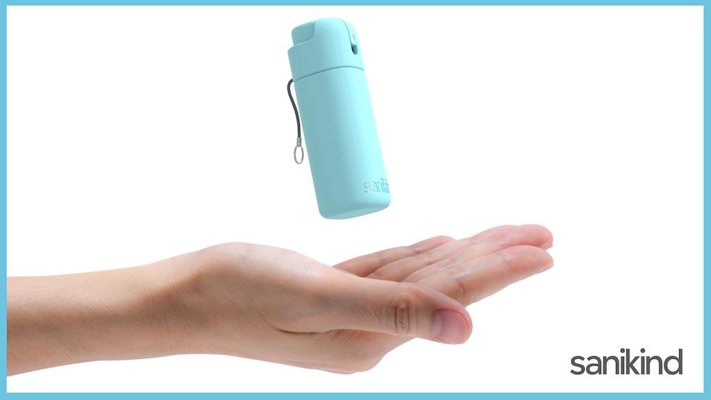Sanikind - eco-friendly sanitizer mist for hands & surfaces project video thumbnail
