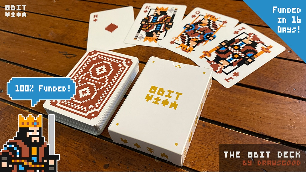 Project image for The 8Bit Deck(Red Back): A pixel art playing card deck