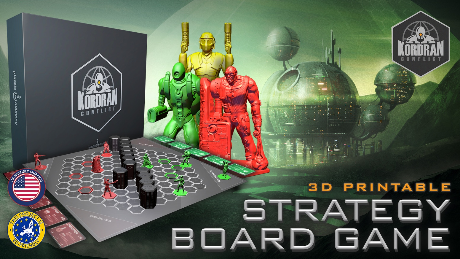 An action-packed strategy game including miniatures and terrain STL files you can 3D print!