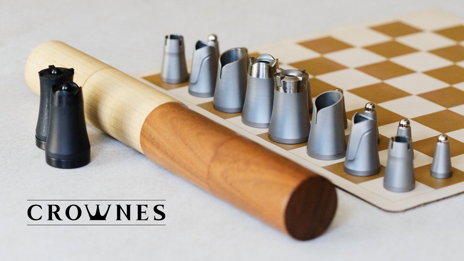 It is a compact solution for a full sized experience. Play this elegant chess set anywhere with anyone.