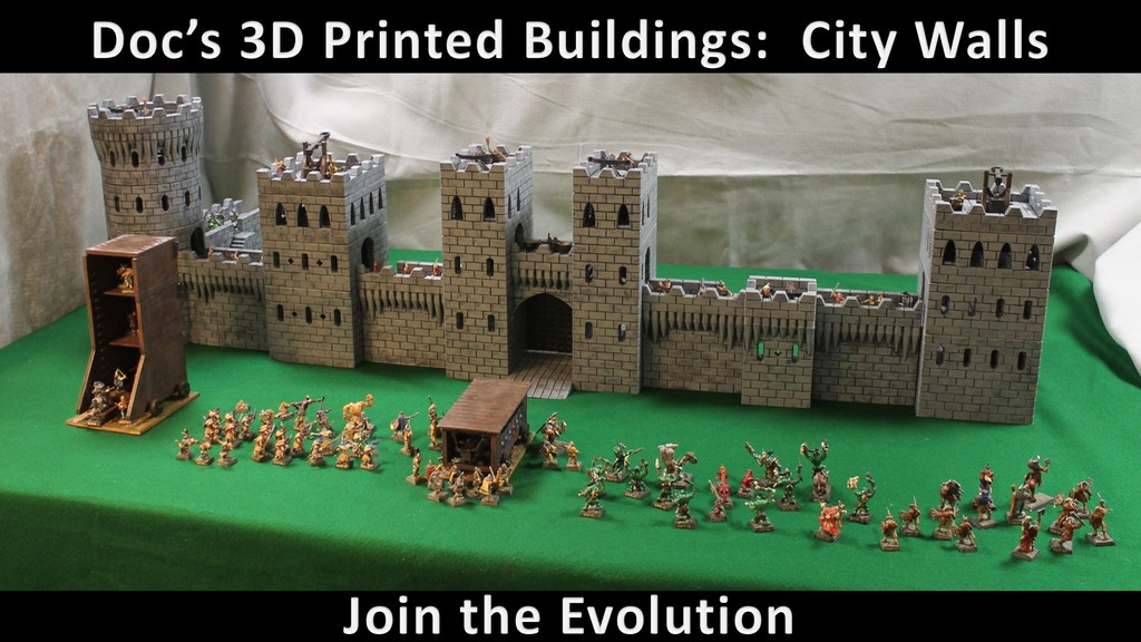 Doc's 3D Printable Buildings for Tabletop Gaming-City Walls project video thumbnail