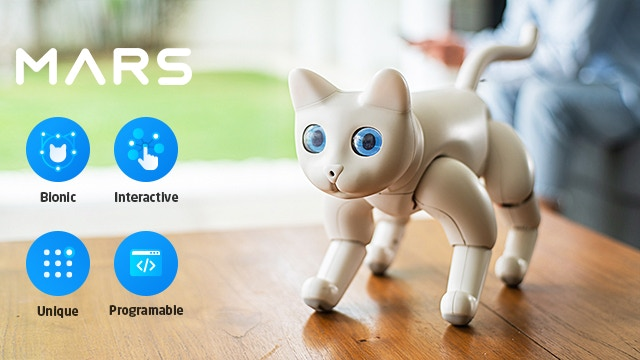 Fully autonomous, highly interactive and easy to program, MarsCat is a purrfect companion with endless possibilities