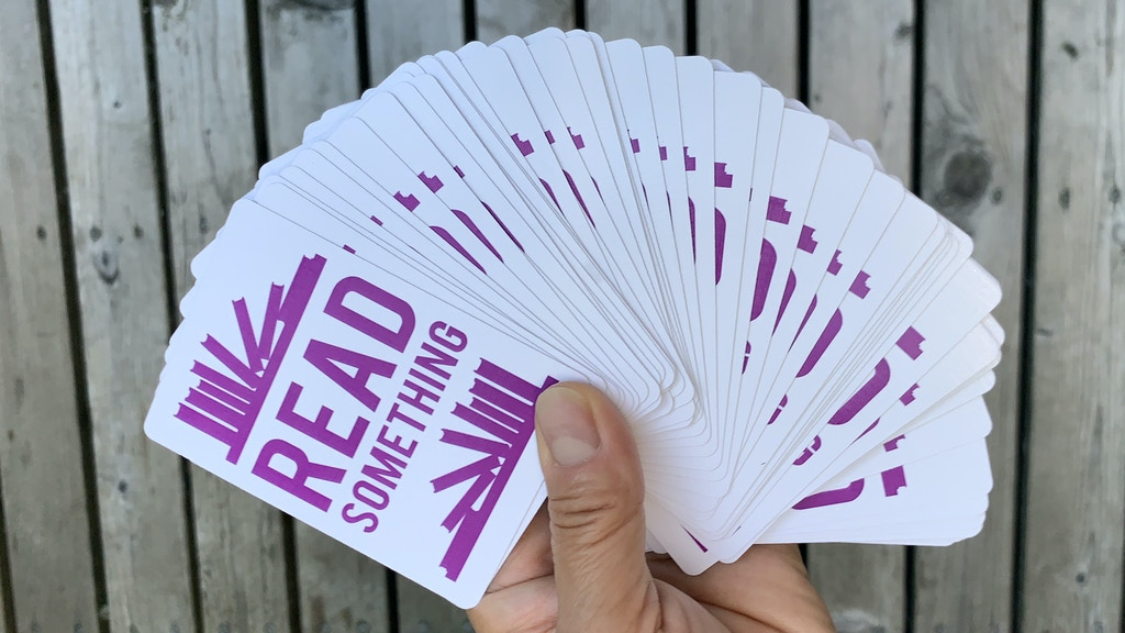 Project image for Read Something -- Readers' Advisory Card Deck