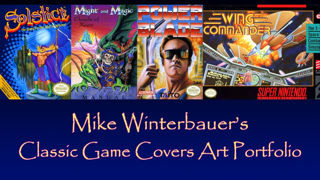 Classic Game Covers Art Portfolio project video thumbnail