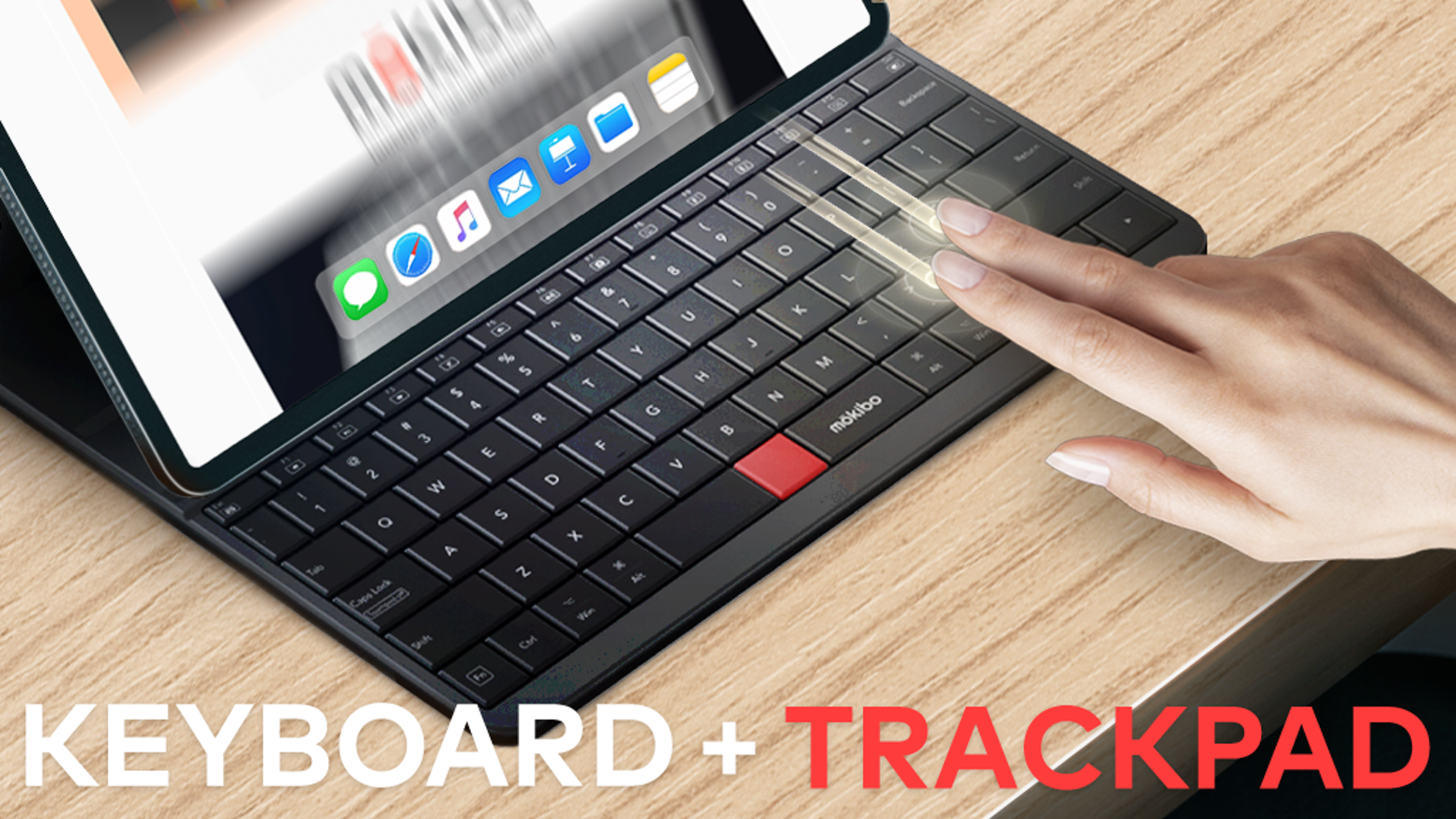 Light and thin keyboard with the keys that also function as a trackpad.