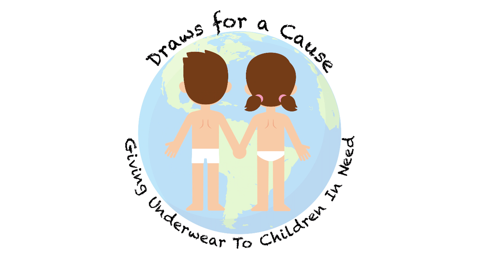 Draws For A Cause helps provide underwear to children in need. For every pair of underwear YOU purchase, one goes to a child in need.