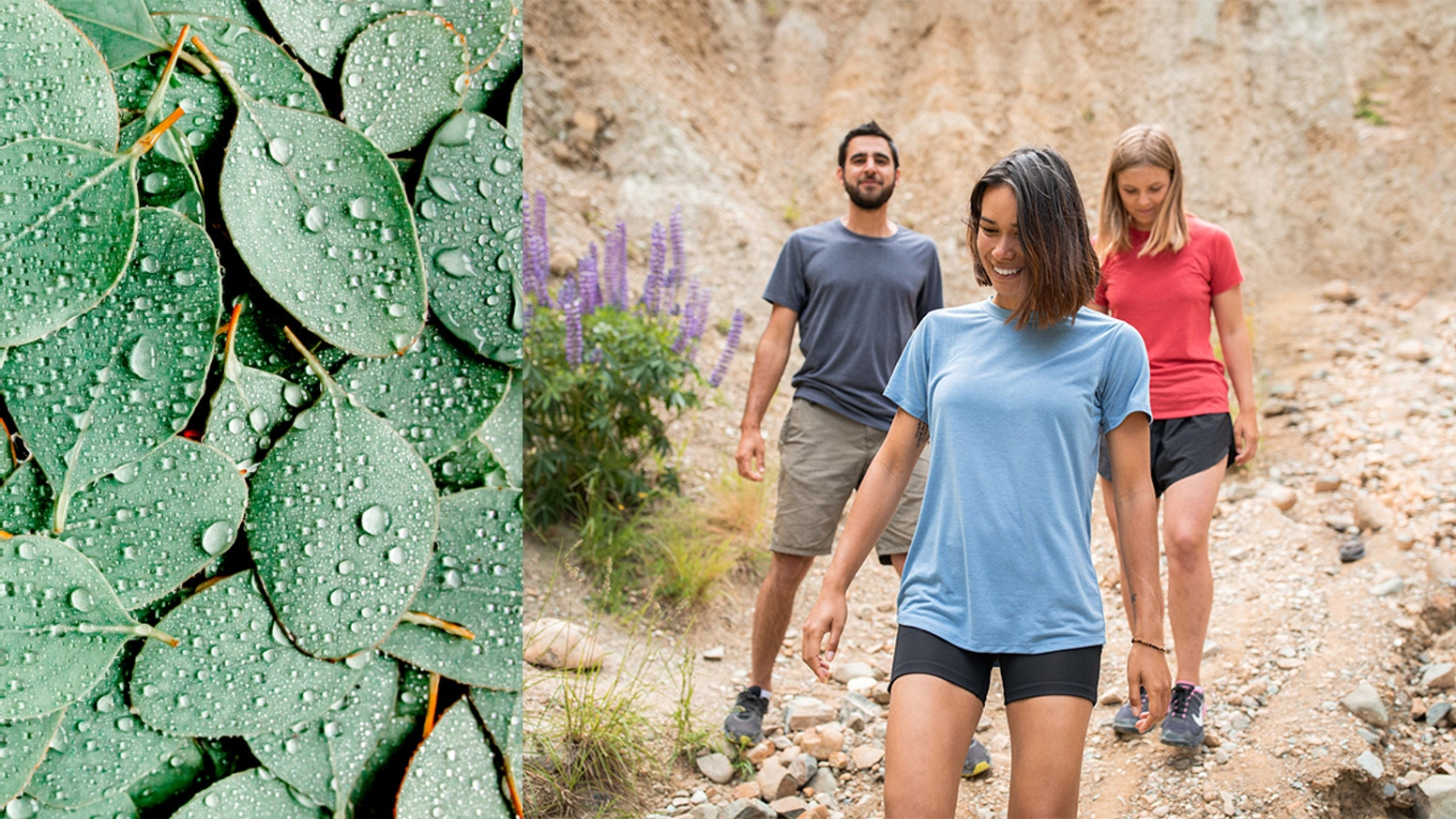 Ultra-fine Merino Wool with Cooling Tencel® Eucalyptus + Featherlight fabrics from recycled water bottles. FREE Shipping!