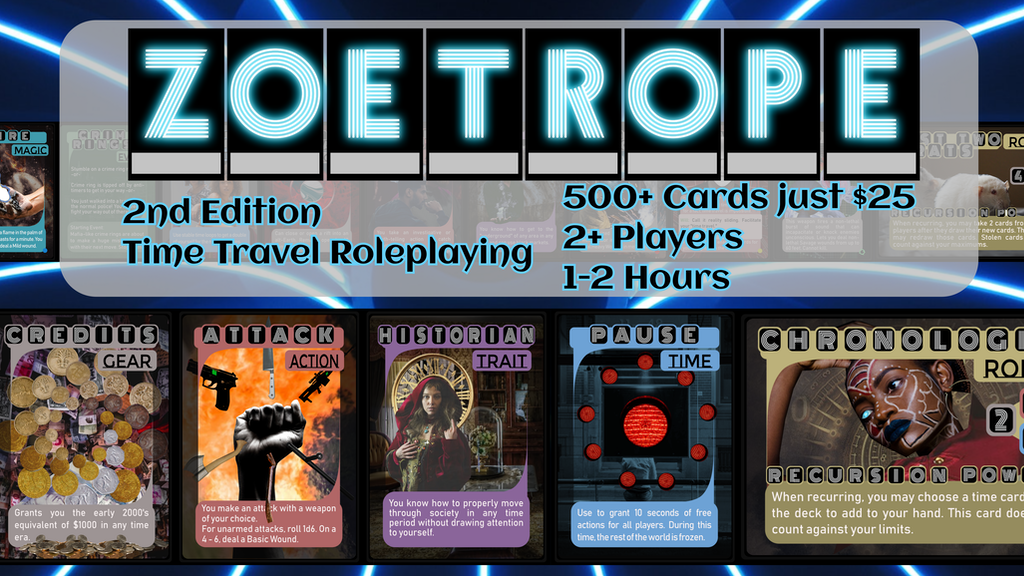 Project image for ZOETROPE 2nd ed | the Card-Based Time Travel TTRPG |