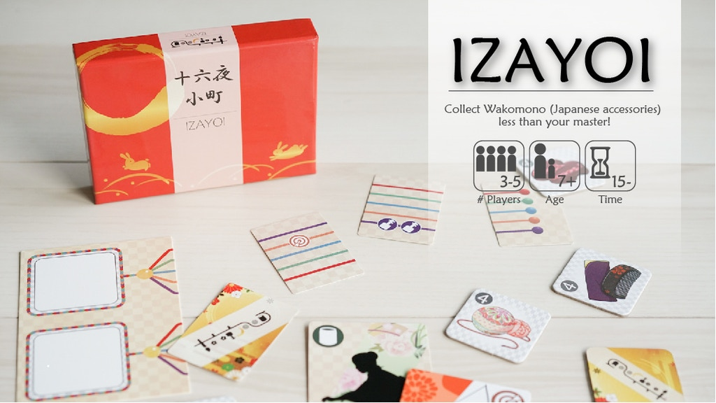 """""""IZAYOI"""" Board game Made in Japan   十六夜小町 project video thumbnail"""
