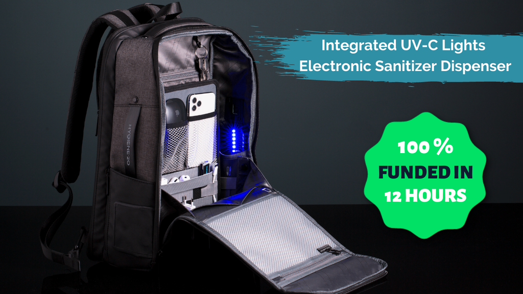 Hygiene20 - The Only Backpack With Smart Sanitizing Features