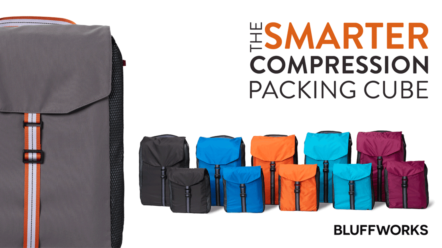 Pack smarter, organize better, save space. Versatile, lightweight packing cubes designed to compact as tightly as you want, every time.