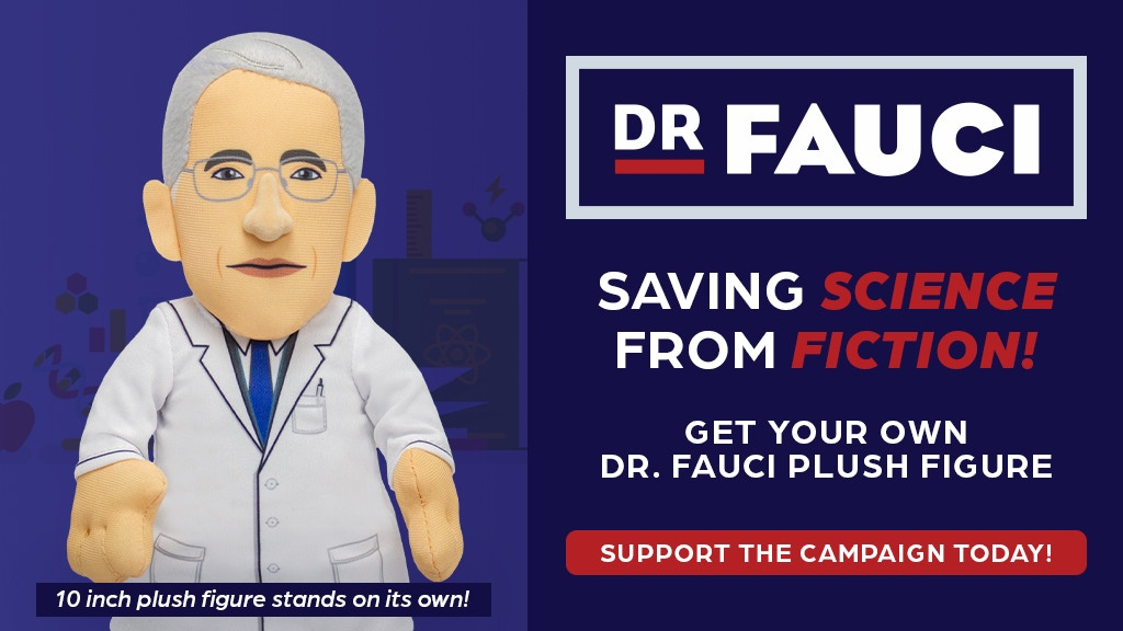 """Dr. Fauci 10"""" Plush Figure- A Toy That Supports Science project video thumbnail"""
