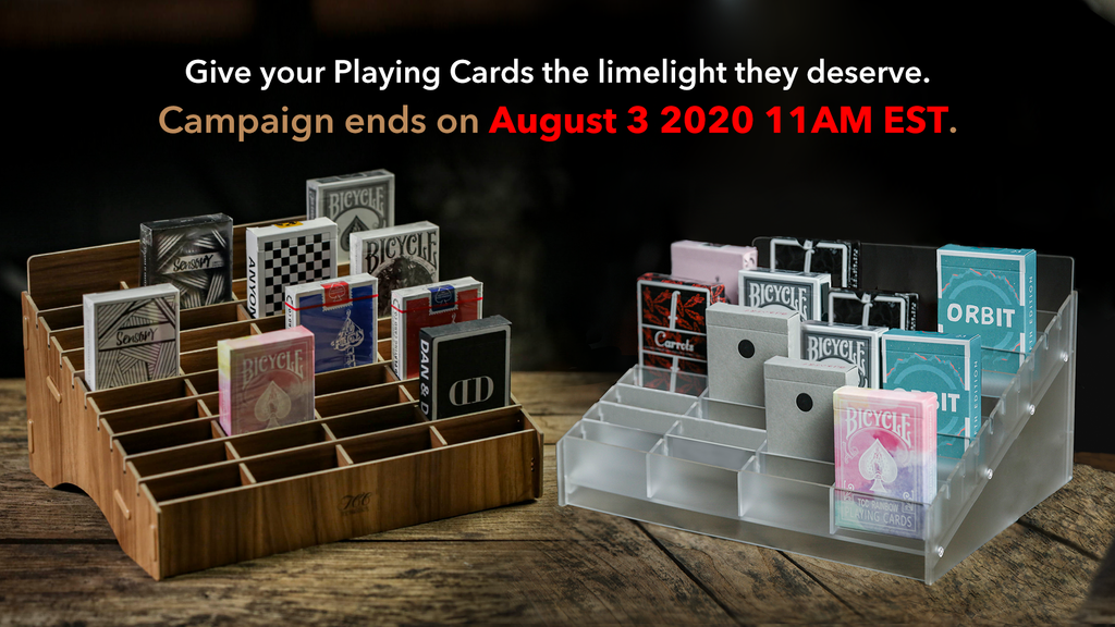 GiveyourPlayingCardsthe limelight they deserve. Unique display stands specifically designed for playing cards for an AMAZING price.