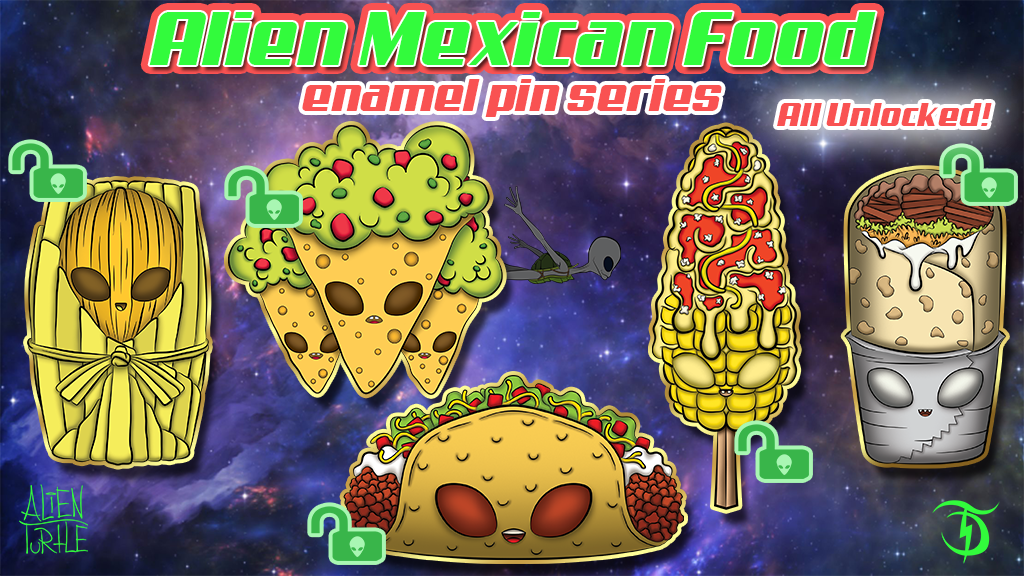 Alien Mexican food Pin Set project video thumbnail